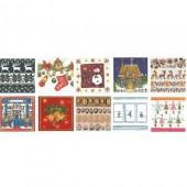 Assortiment de 20 serviettes Noël