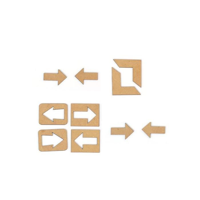 "Wooden embellishments ""arrows"" 3-6cm"