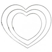 Coeur en métal ondulé, 20cm