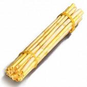 Wooden sticks, 40cm, yellow, 5 pcs