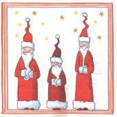 Serviette 3 Pères Noël, 1 pièce