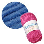 Machine felting wool, blue