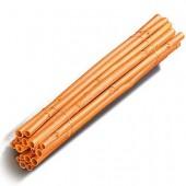 Bastoncillos de madera, 40cm, 5 unidades, naranja