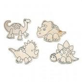 Kit Dinosaures, formes à peindre, 4 pces