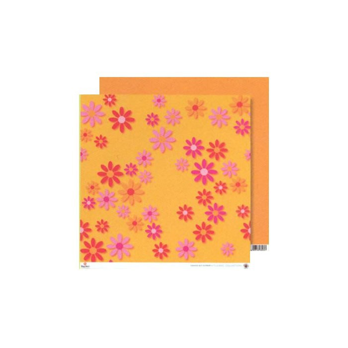 Paper orange-pink big flowers