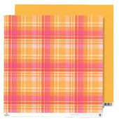 Paper orange-pink plaid