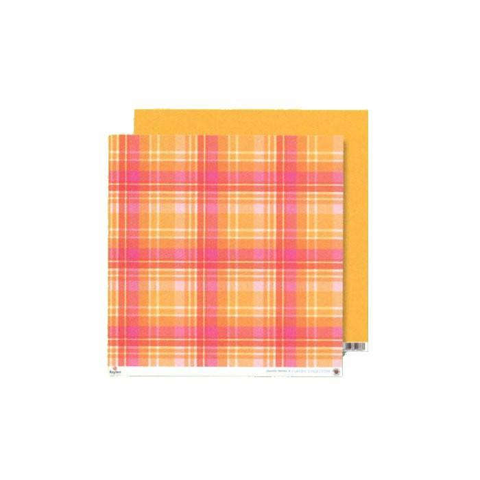 Paper orange-pink plaid