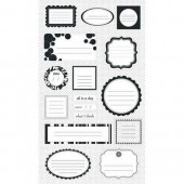 Making Memories - Journaling stickers  black / white
