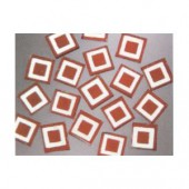 Matrix Mosaic, red, squares, 10x10x2mm