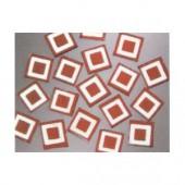 Matrix Mosaic, rouge, carrés, 10x10x2mm