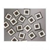 Matrix Mosaic, noir, carrés, 10x10x2mm