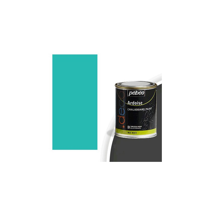 peinture effet ardoise couleur turquoise 250ml. Black Bedroom Furniture Sets. Home Design Ideas