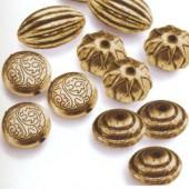Set de perles or antique, 12 pièces