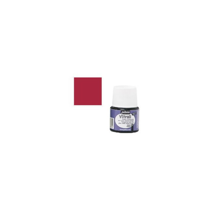 Pébéo Vitrail, bottle 45ml, cardinal red