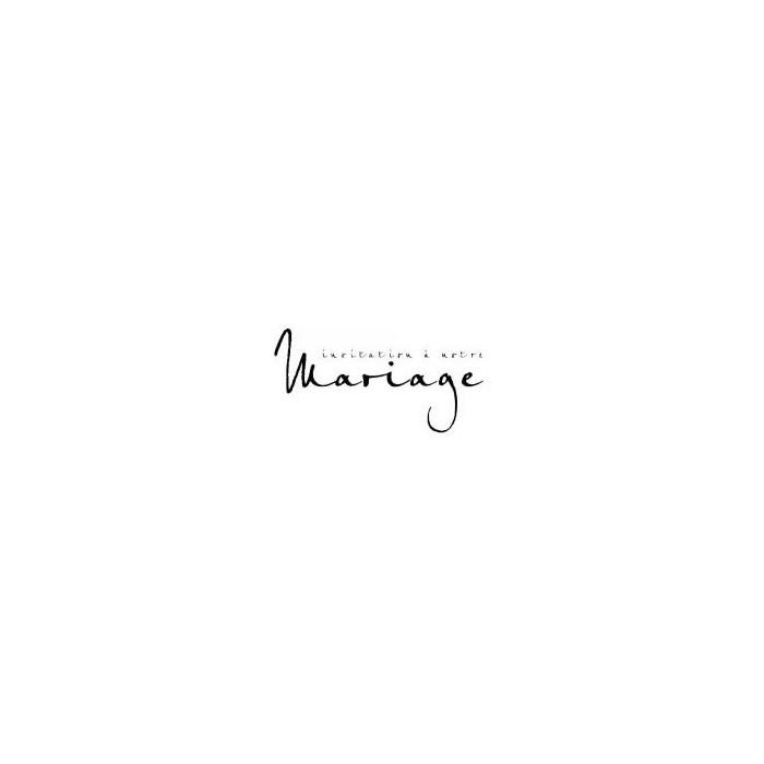 "Rubber Stamp ""Invitation Mariage"""