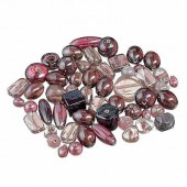 Glass bead mix, lilac, 100g