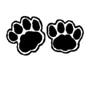 Rubberstamp bear tracks