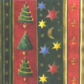 Napkin Christmas Stripes, 1 piece