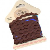 Tilda - Zig-Zag ribbon brown, 5m