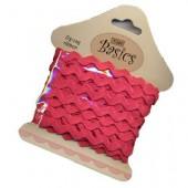 Tilda - Zig-Zag ribbon raspberry, 5m