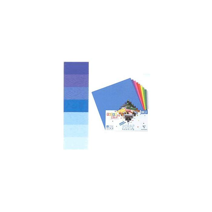Cardstock assortment, blue , 30 sheets 30.5x30.5