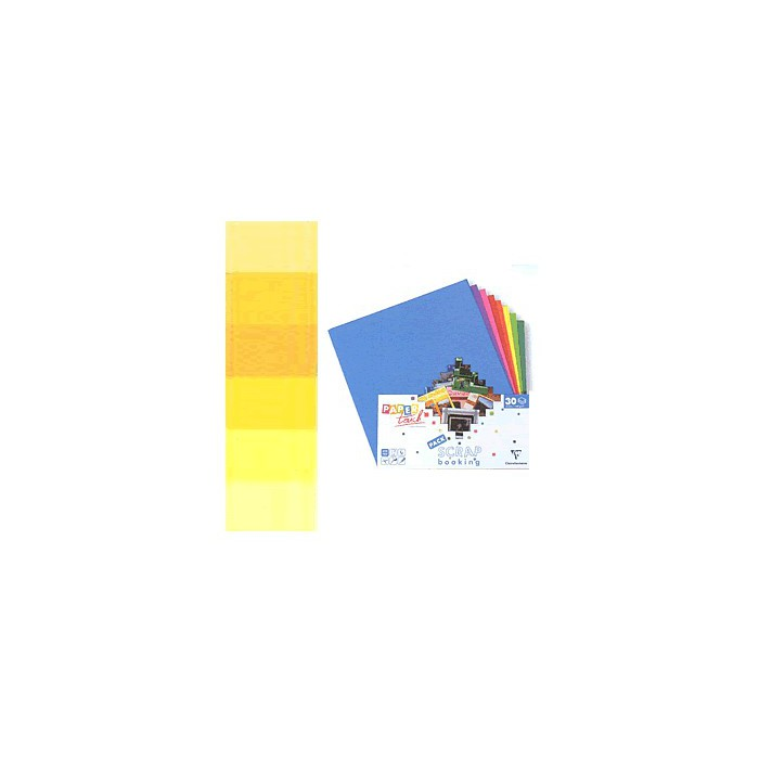 Cardstock assortment, yellow , 30 sheets 30.5x30.5