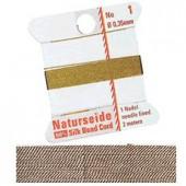 Natural silk thread, 0.35mm/2m, rose
