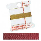Natural silk thread, 0.35mm/2m, red