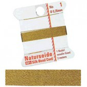 Natural silk thread, 0.35mm/2m, gold