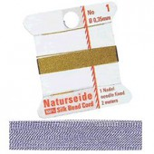 Natural silk thread, 0.35mm/2m, lilac