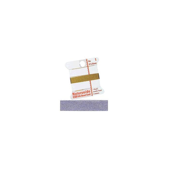 Natural silk thread, 0.35mm/2m, lilac