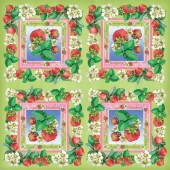 Napkins Strawberry, 12 pces