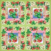 Napkins Strawberry, 12 pces
