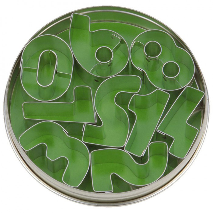 Clay cutters numbers, 9 pcs