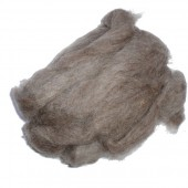 Felting wool, natural brown