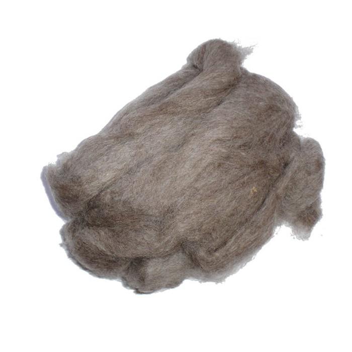 Felting wool, natural brown