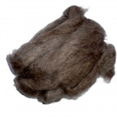 Felting wool, dark brown