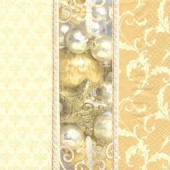 Serviette Goldene Weihnachten, 1 pce