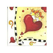 Napkin angels and heart, 1 piece
