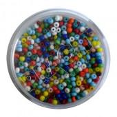 Perles mix, 17g, couleurs vives, 2.3mm