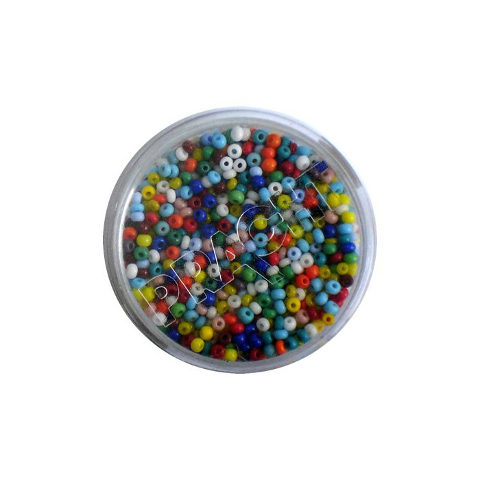 Mix of rocailles, 17g, bright colours
