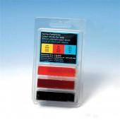 Bâtons de colorant pour savons, jaune, rouge, bleu