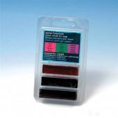 Colour sticks for soap, pink - green - violet