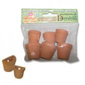 Round Half-pots, 6 pcs
