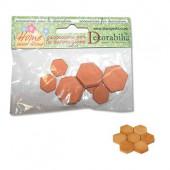 Hexagonal floor tiles, 8 pcs