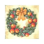 Napkin ring of apples, 1 piece