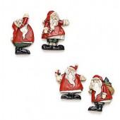 Pères Noël 5cm, 4 pièces