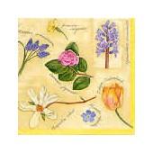 Serviette fleurs de printemps, 1 pièce