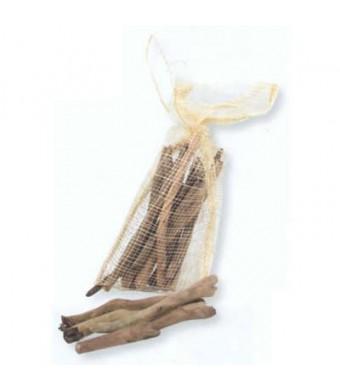 Bois flotté 11-12cm, filet de +/- 15 bâtons