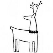 Tampon renne 4.5x7cm